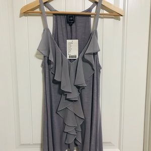 NWT Grey Ruffle Tank from Anthropologie